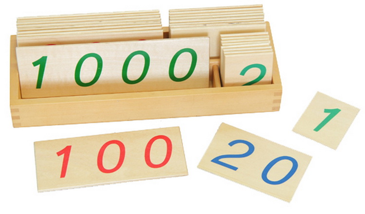 Large Wooden Number Cards With Box (1-1000)