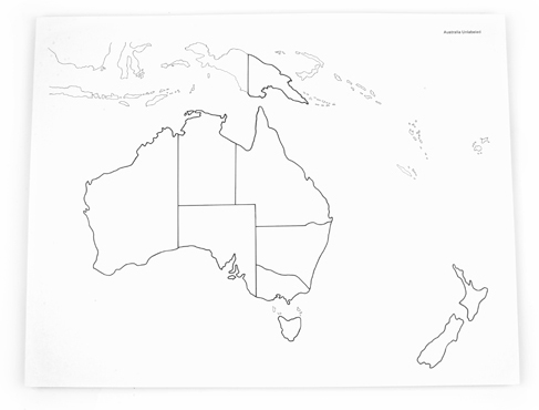 NEW Australia Control Map – UnLabeled