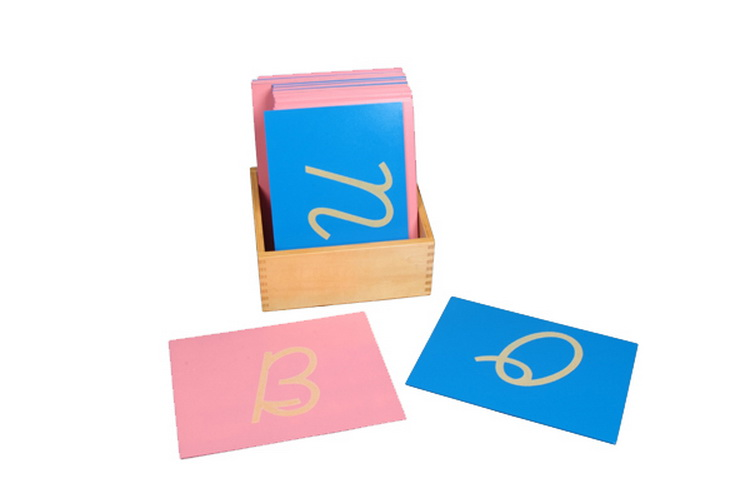 Sandpaper Letters, Capital Case Cursive, with Box