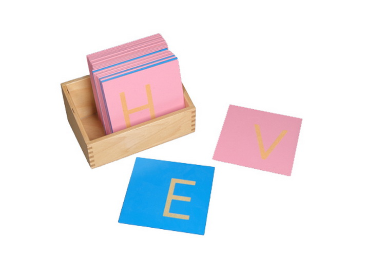 Sandpaper Letters, Capital Case Print, with Box