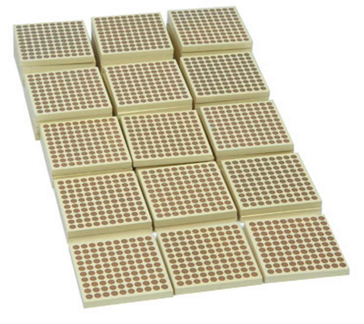 45 Pcs Wooden Blocks with Hundred Dot